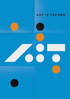 Art is Techno — Identity by SAWDUST, via Behance