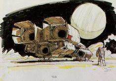 Ron Cobb Alien The history of the Nostromo by Ron Cobb Den of Geek Arte Sci Fi, Sci Fi Art, Ulysse 31, Sci Fi Kunst, Science Fiction Kunst, Alien 1979, Alien 2, Den Of Geek, Alien Concept Art