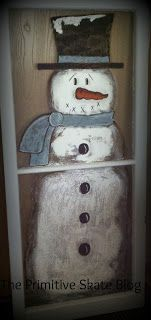 The Primitive Skate Primitive Christmas, Christmas Signs, Christmas Snowman, Winter Christmas, Christmas Windows, Rustic Christmas, Snowman Crafts, Christmas Projects, Holiday Crafts
