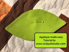 Do you find needle turn applique challenging.  Check this tutorial out, it might make applique fun again for you!