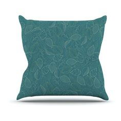 Kess InHouse Emma Frances Autumn Leaves Outdoor Throw Pillow - EH1003AOP02