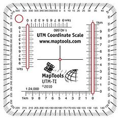 Utm Ruler For Trails Ilrated Maps For Use With Utm Mgrs Usng Or Other Metric Based Coordinate Systems For Use On Maps With Scales Of