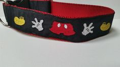 Mickey Parts Inspired Embroidered Dog Collar