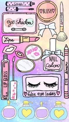 Ideas Makeup Wallpaper Iphone Backgrounds Make Up For 2019 Wallpaper Background Design, Unicornios Wallpaper, Wallpaper Backgrounds, Iphone Backgrounds, Makeup Backgrounds, Makeup Wallpapers, Cute Wallpapers, Tumblr Stickers, Cute Stickers