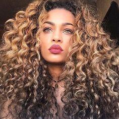 for more curly hair styles ❤️ Natural Curly Hair, Natural Hair Styles, Deep Curly, Natural Beauty, Hair Hacks, Hair Tips, Coiffure Hair, Medium Brown Hair, 100 Human Hair Wigs