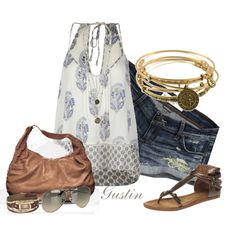 relaxed casual, created by stacy-gustin.polyvore.com