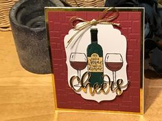 The gold mirror paper makes great accents.  Makes a very special birthday card.