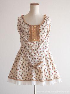 LIZ LISA Winter Floral Dress OP Lolita Hime gyaru Size0 Japan #LIZLISA #Peplum #Party