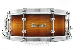 Dunnett Classic MonoPly Milkwood Snare Drum 14x6 Natural Burst w/ Cold Rolled Hoops