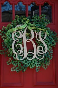We can make a monogram wreath for you at Gifts and Garden by Angela