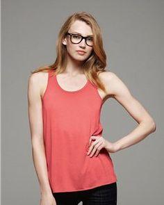 be645850772a1 Bella- Women s Fashion- Max Flow Racerback Tank Top- 65 35 Blend  8.61