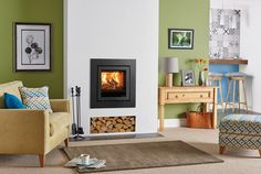 The Stovax Elise 540 Cassette Stove combines advanced engineering and stylish aesthetics resulting in a clean, contemporary designed fire at the pinnacle of clean burning performance. The Elise 540 has been created to be at the very forefront of innova Stove Fireplace, Fireplace Design, Fireplace Ideas, Insert Stove, Cosy Decor, Log Burner, Coffee Table Design, Coffee Tables, Living Room With Fireplace