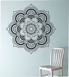 Mandala Wall Decal Flower namaste Vinyl Sticker Art Decor Bedroom Design Mural flower Buddha namaste yoga living room by StateOfTheWall on Etsy https://www.etsy.com/listing/220206006/mandala-wall-decal-flower-namaste-vinyl