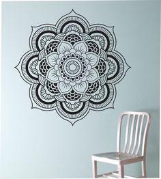 Mandala Wall Decal Flower namaste Vinyl Sticker Art Decor Bedroom Design Mural flower Buddha namaste yoga living room by StateOfTheWall on Etsy https://www.etsy.com/listing/220206006/mandala-wall-decal-flower-namaste-vinyl
