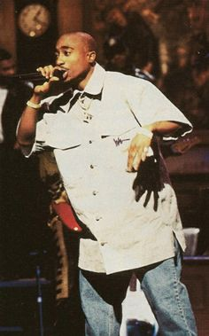 Tupac Shakur, Feb 1996 performing on Saturday Night Live