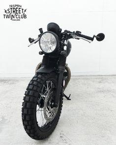 Triumph Street Twin cafe racer #triumph #streettwin #caferacer #brat #custom #motorcycle