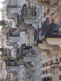 Parisian balconies…..beautiful