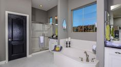 Open and spacious bathroom by Taylor Morrison