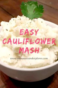 Cauliflower Mash by Emma Eats & Explores - SCD, Paleo, GrainFree, GlutenFree, SugarFree & Vegetarian