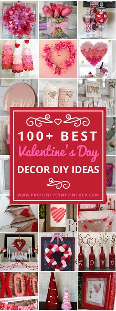 Set the mood with these romantic and creative Valentine's Day decor DIY ideas. From wreaths to mantel decor and garlands, there are over 100 decorations for the whole house! These festive Valentine's Day decorations will certainly make it a memorable day for you and your special someone. DIY Valentine Wreath heart shaped twig wreath form … #DIYDecor