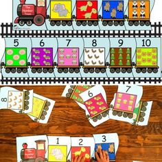FREE Number Train Printable Puzzle