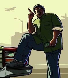 Big Smoke Art  Grand Theft Auto: San Andreas Art Gallery San Andreas Grand Theft Auto, San Andreas Gta, Grand Theft Auto Games, Grand Theft Auto Series, Arte Hip Hop, Hip Hop Art, Gta San Andreas Wallpapers, Big Smoke Memes, Rockstar Games Gta
