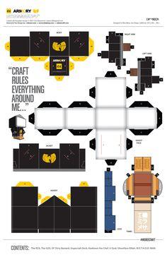 #WuTang #Cubeecraft #Armory #RBST #Papercraft #Kirigami #WUbeecraft