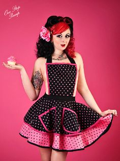 Too Cute To Cook Bettie Page Apron