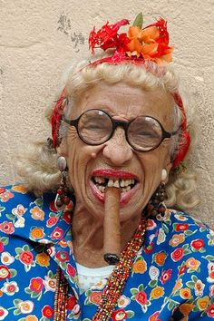 Cigar is not good for your teeth…