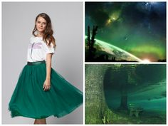 Feel the freshness of green in the new collection Sparks of Universe- http://bit.ly/1zoicno. Wear it and play! #tulle #green #happyfriday #sparksofuniverse #universe #newcollection