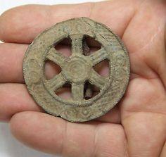 ANCIENT VIKING BRONZE   FIBULA BROOCH Men's Jewelry  31g