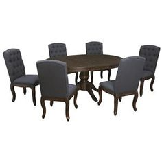 Trudell Oval Dining Table Set with Upholstered Side Chairs by Belfort Select at Belfort Furniture Korea Apartment, Dining Set, Dining Chairs, Belfort Furniture, Oval Table, Wood Table, Table Furniture, Side Chairs, Home Appliances