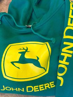 John Deere Green Pullover Hoodie Size XXL in Nice Condition   eBay