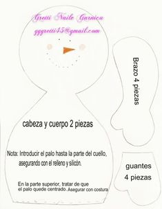 Porta rollo muñeco de nieve - Dale Detalles Snow Crafts, Holiday Crafts, Christmas Holidays, Christmas Decorations, Christmas Sewing Projects, Applique Designs, Jack Frost, Snowman, Sewing Patterns