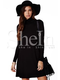 Shop Black Long Sleeve Casual Dress online. SheIn offers Black Long Sleeve Casual Dress & more to fit your fashionable needs.