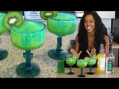 Electric Kiwi Margarita - Tipsy Bartender - YouTube