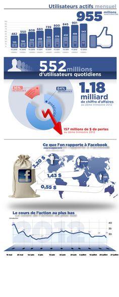 Facebook tire 84% de ses revenus de la publicité, le reste des jeux ainsi que des crédits Facebook.