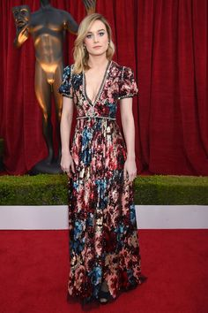 Brie Larson - in Gucci at the Screen Actors Guild Awards HarpersBAZAAR.com