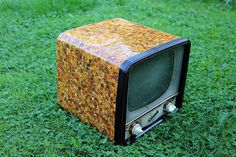 """TV """"Start 3"""" (produced by the Soviet Union in 1960) in an amber mosaic - working"""