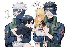 Naruto Uzumaki Shippuden, Naruto And Sasuke Funny, Naruto And Sasuke Kiss, Kakashi And Obito, Naruto Shippuden Characters, Naruto Anime, Naruto Comic, Sakura And Sasuke, Sasunaru
