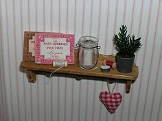 shelf in sewing room