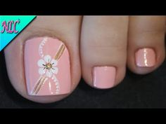 Toenail Art Designs, Marble Nail Designs, Pedicure Designs, Simple Nail Art Designs, Manicure E Pedicure, Pretty Toe Nails, Cute Toe Nails, Fun Nails, Pink Nail Art