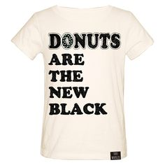 """Image of """"Donuts Are The New Black"""" Natural"""