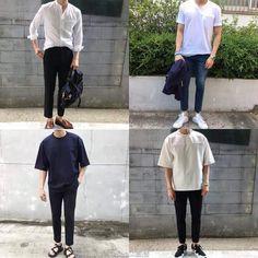 Korean Fashion Men, Korean Street Fashion, Kpop Fashion, Asian Fashion, Stylish Men, Men Casual, Cute Simple Outfits, Denim Jacket Men, Korean Outfits