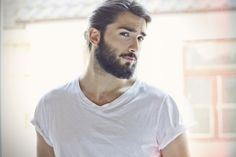 DEVRAN TASKESEN beard hair white t.. Men fashion tumblr streetstyle