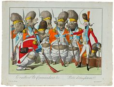 18th cent. French caricature mocking the English