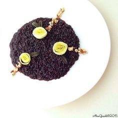 Risotto Venere con porri e nocciole | Venere rice leek risotto | RicetteVegolose