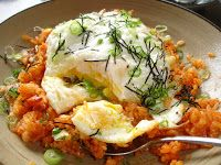 Michelle and I had breakfast at Namu's, an Asian fusian restaurant in the Inner Richmond District and I ordered kimchi fried rice with two ...