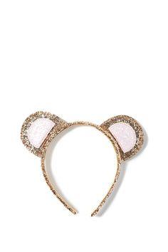 cotton on kids | glitter headband. bear