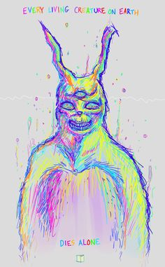 every living creature on earth dies alone, rainbow colors, third eye, donnie darko suit Caricatures, Acid Art, Street Art, Hippie Art, Arte Horror, Psychedelic Art, Dark Art, Iphone Wallpaper, Cool Art